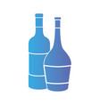 line wine bottles to celebretion beverage vector image vector image