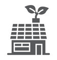 low energy house glyph icon ecology and energy vector image vector image