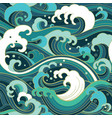 marine seamless pattern with water waves vector image vector image