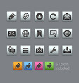 messages icons - satinbox series vector image vector image