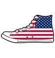 modern sport shoes with USA flag vector image vector image