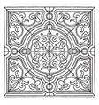 modern square panel is a heavy design vintage vector image vector image