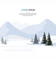mountain winter landscape with fir trees vector image vector image