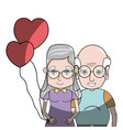 old coupe people with glasses and hairstyle vector image vector image