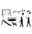 playground elements vector image vector image