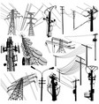power tower format vector image