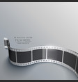 realistic 3d film strip background in perspective vector image vector image