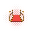 Red carpet comics icon vector image vector image