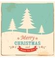 Retro Merry Christmas Background vector image