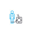 risky business thin line stroke icon risky vector image