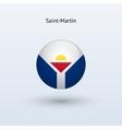 Saint-Martin round flag vector image
