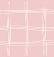 seamless pattern with hand drawn line checkered vector image vector image