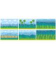 set nature landscape background vector image vector image