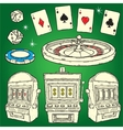 Set of Casino icons vector image vector image