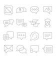 set of message line icons contains such vector image