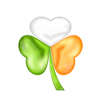 Shamrock in Irish flag color for saint patrick day vector image vector image