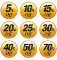 Shopping Sale Discount Badge in Yellow vector image vector image