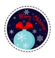 snowflake ball merry christmas vector image vector image