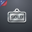 Sold icon symbol 3D style Trendy modern design vector image vector image