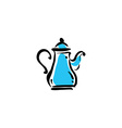 teapot icon on white background vector image