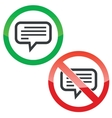 Text message permission signs set vector image vector image