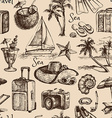 Travel and vacation vintage seamless pattern Hand vector image vector image