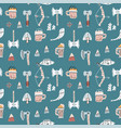 vikings seamless pattern with viking helmet vector image