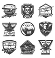 vintage aircraft labels collection vector image vector image