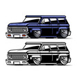 vintage american low truck vector image vector image