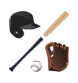 Items for baseball vector image