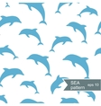 Abstract dolphin pattern vector image