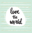love world bc vector image