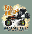 monster big wheels vector image