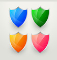 shiny colorful badges set vector image