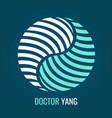 abstract logo yin yang symbol harmony and balance vector image vector image