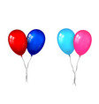balloons 3d couple set thread isolated white vector image