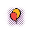 Balloons comics icon vector image vector image