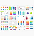 banners infographic templates set arrows vector image vector image