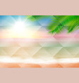 beach and tropical sea geometric background vector image