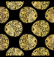 black on gold polka dots lace pattern seamless vector image