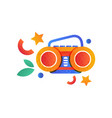 boombox summer camping element vector image vector image