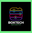 box tech logo vector image