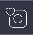 camera icon camera and heart editable vector image vector image