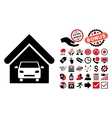 Car Garage Flat Icon with Bonus
