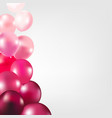 card with pink color balloons vector image vector image
