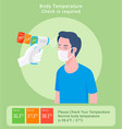 checking body temperature concept vector image vector image