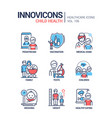 child health - line design style icons set vector image
