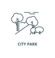 city park line icon city park outline vector image vector image