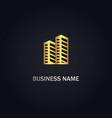 cityscape building logo vector image vector image