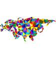 colorful mosaic abstract eurasia map vector image